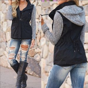 Jackets & Blazers - 1 MED LEFT! Two Tone Sweatshirt Jacket